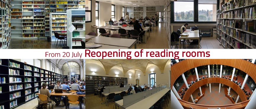 From 20 July. Reopening of reading rooms