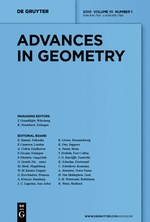 Advances in geometry