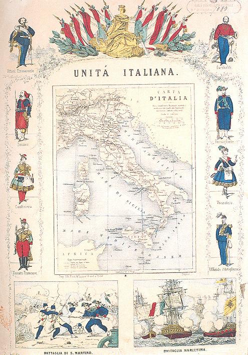Cartina Politica Italia 1860.Costruire L Italia Eventi E Mostre Sba Sistema Bibliotecario Di Ateneo Unifi